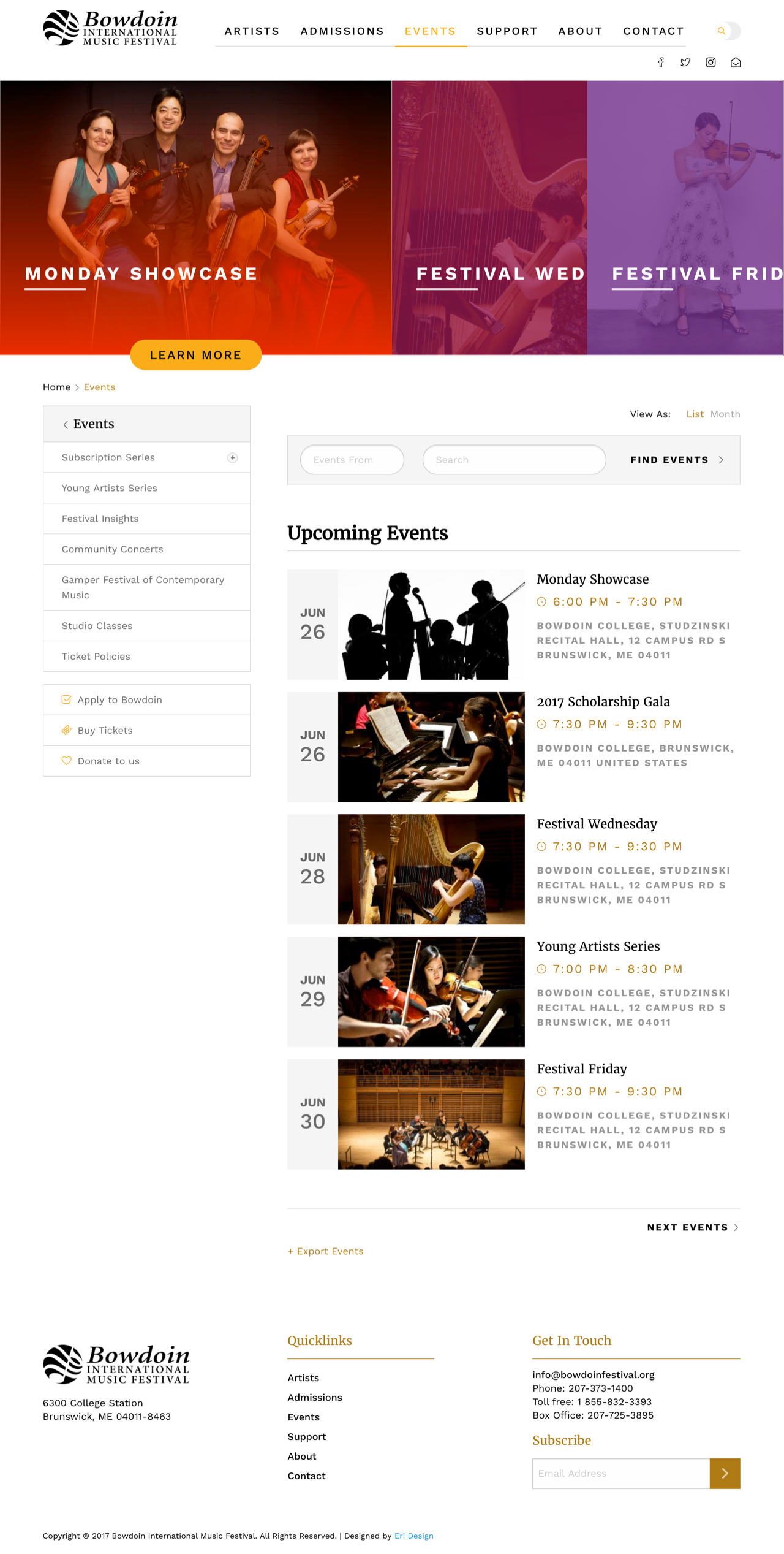 Bowdoin Events Page